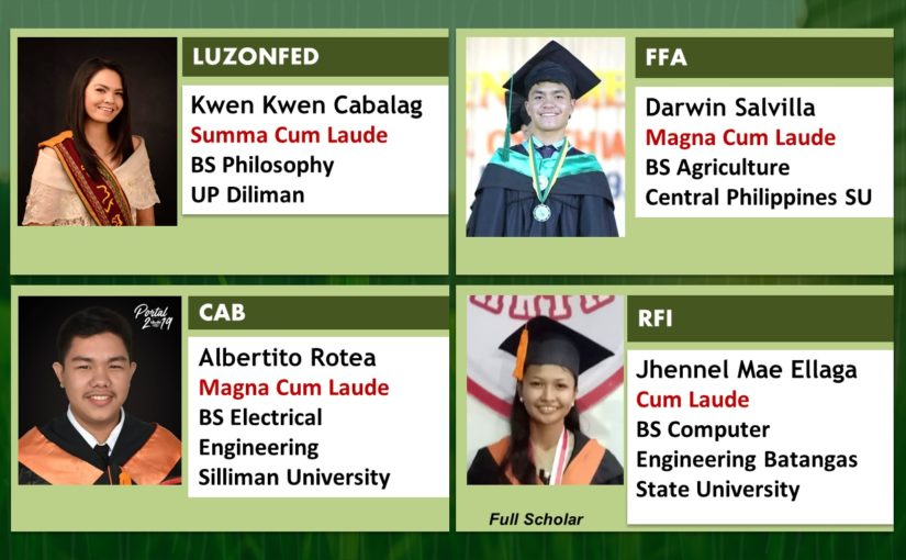 SIFI SCHOLARS GRADUATE WITH HIGH HONORS SY 2018-2019